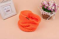 Детский теплый шарфик хомут снуд на зиму «Orange», фото 1