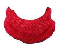 Детский теплый шарфик хомут снуд на зиму «Red»