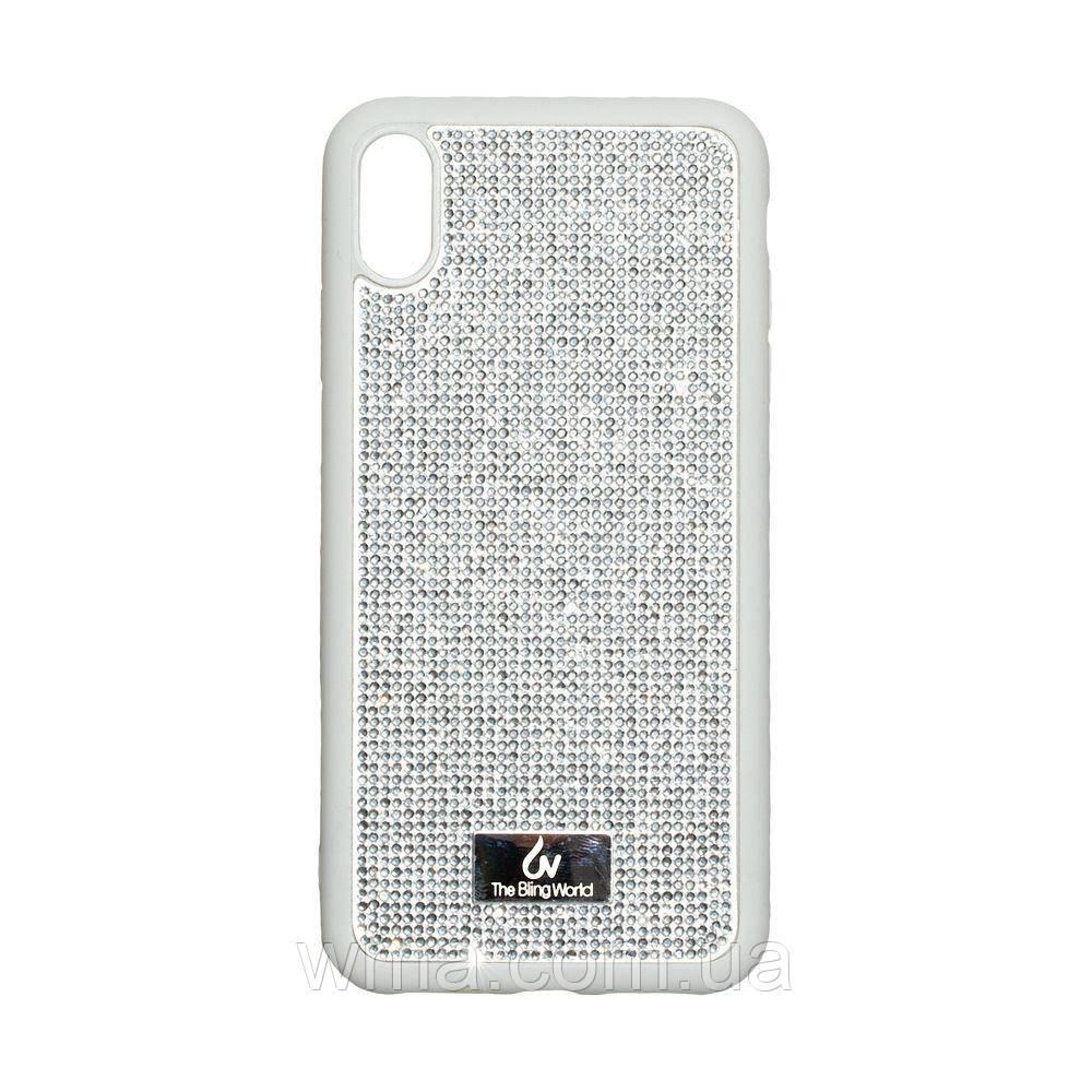 Чехол Bling World TPU+LCPC for Apple Iphone Xs Max Цвет Стальной