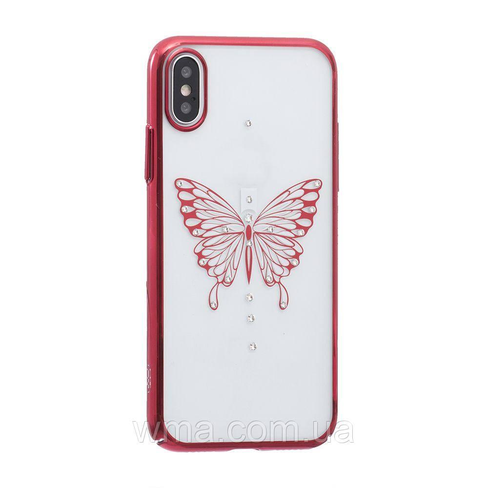 Чехол Simple Beauty Butterfly Series for Apple Iphone X Цвет Красный