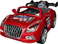 Электромобиль AUDI Машина HL318 (1шт) красный, белый, 1 мотор 30W, аккум 6V/7A, до 5 км/ч, в кор.117-64-37см