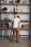 Футболка поло (тенниска) детская, для мальчика SmileTme Classic, светло-серая, фото 3