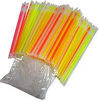 Светящиеся палочки, неоновые браслеты (100шт.)