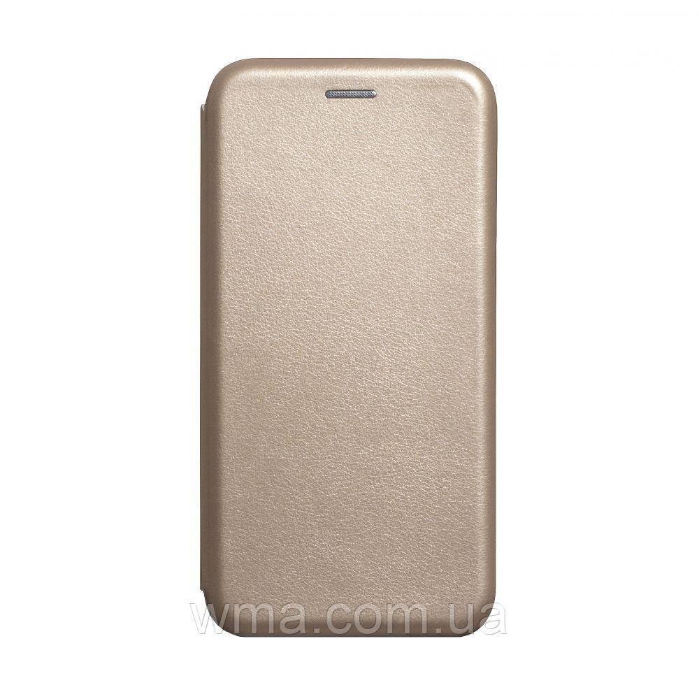 Чехол-книжка кожа Xiaomi Redmi 8A Цвет Золотой