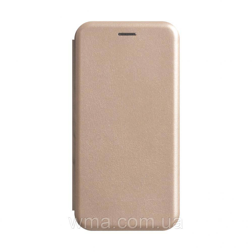 Чехол-книжка кожа Xiaomi Redmi Note 8 Цвет Золотой