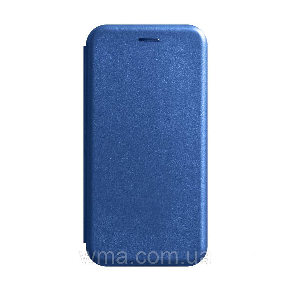 Чехол-книжка кожа Xiaomi Redmi Note 8 Цвет Синий