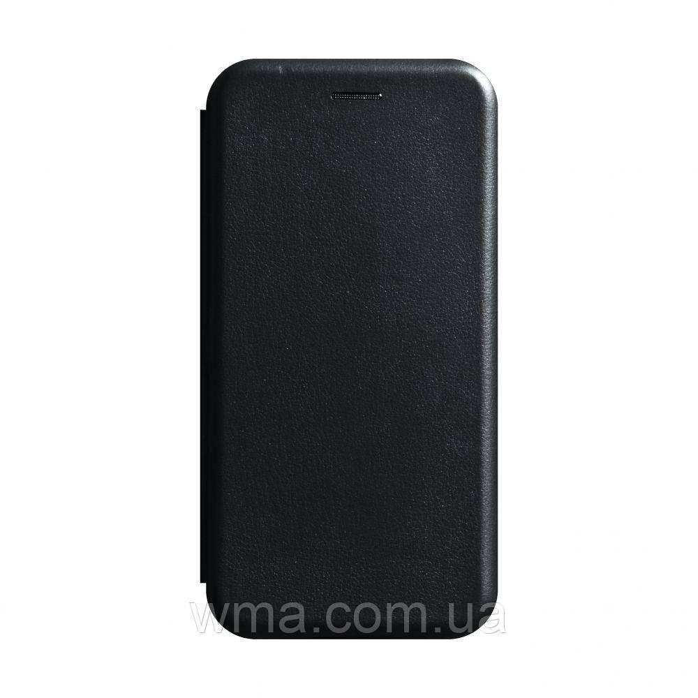 Чехол-книжка кожа Xiaomi Redmi Note 8 Цвет Чёрный