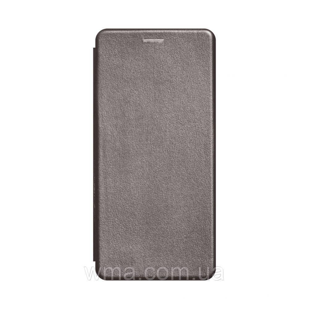 Чехол-книжка кожа Samsung A21s Цвет Серый