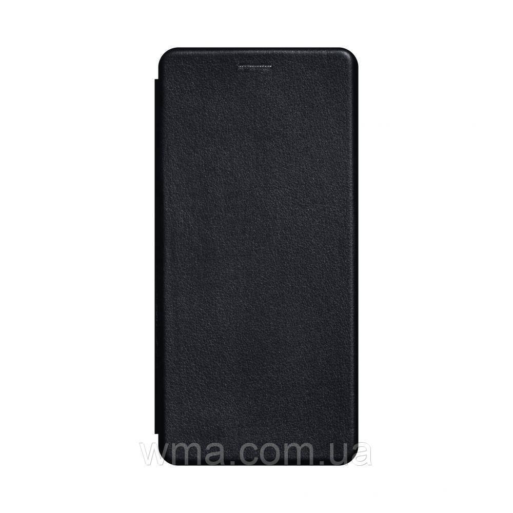 Чехол-книжка кожа Samsung A21s Цвет Чёрный