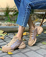 Женская Обувь Диор Беж Зима