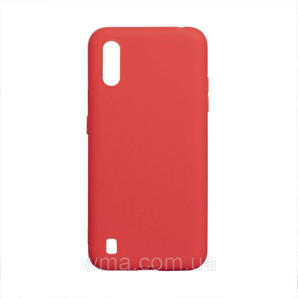 Чехол SMTT Samsung A01 Цвет Красный
