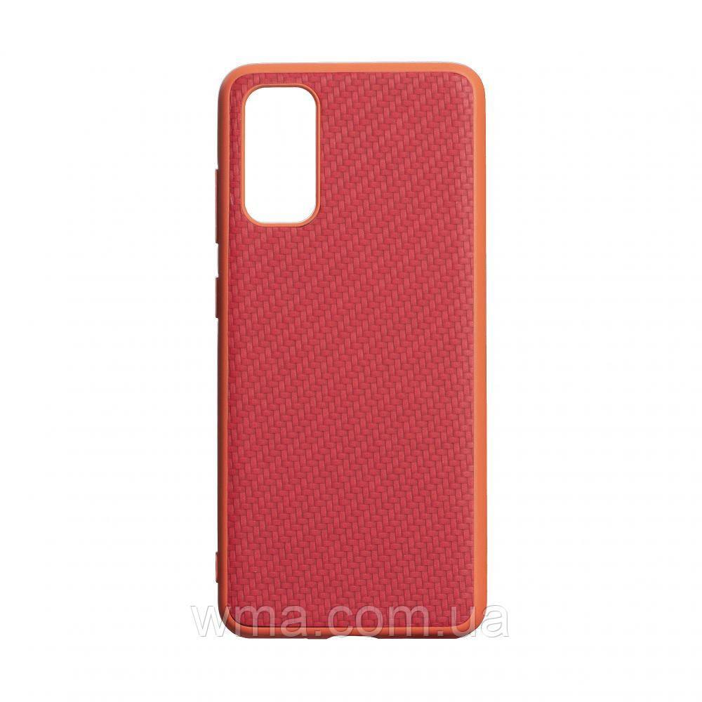 Чехол Carbon for Samsung S20 2020 HQ Цвет Красный