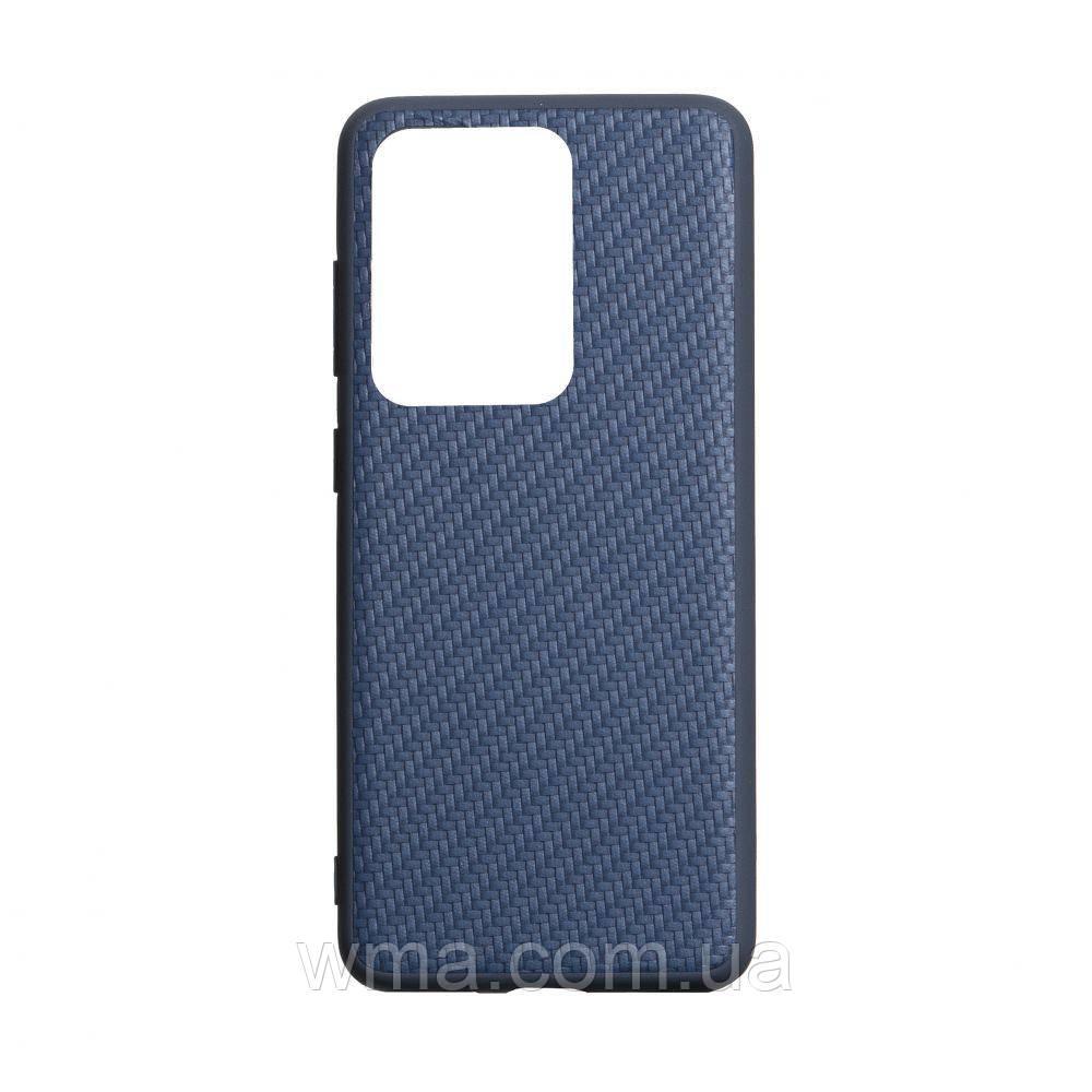 Чехол Carbon for Samsung S20 Ultra 2020 HQ Цвет Синий