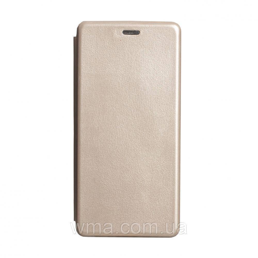 Чехол-книжка кожа Samsung S20 Plus 2020 Цвет Золотой