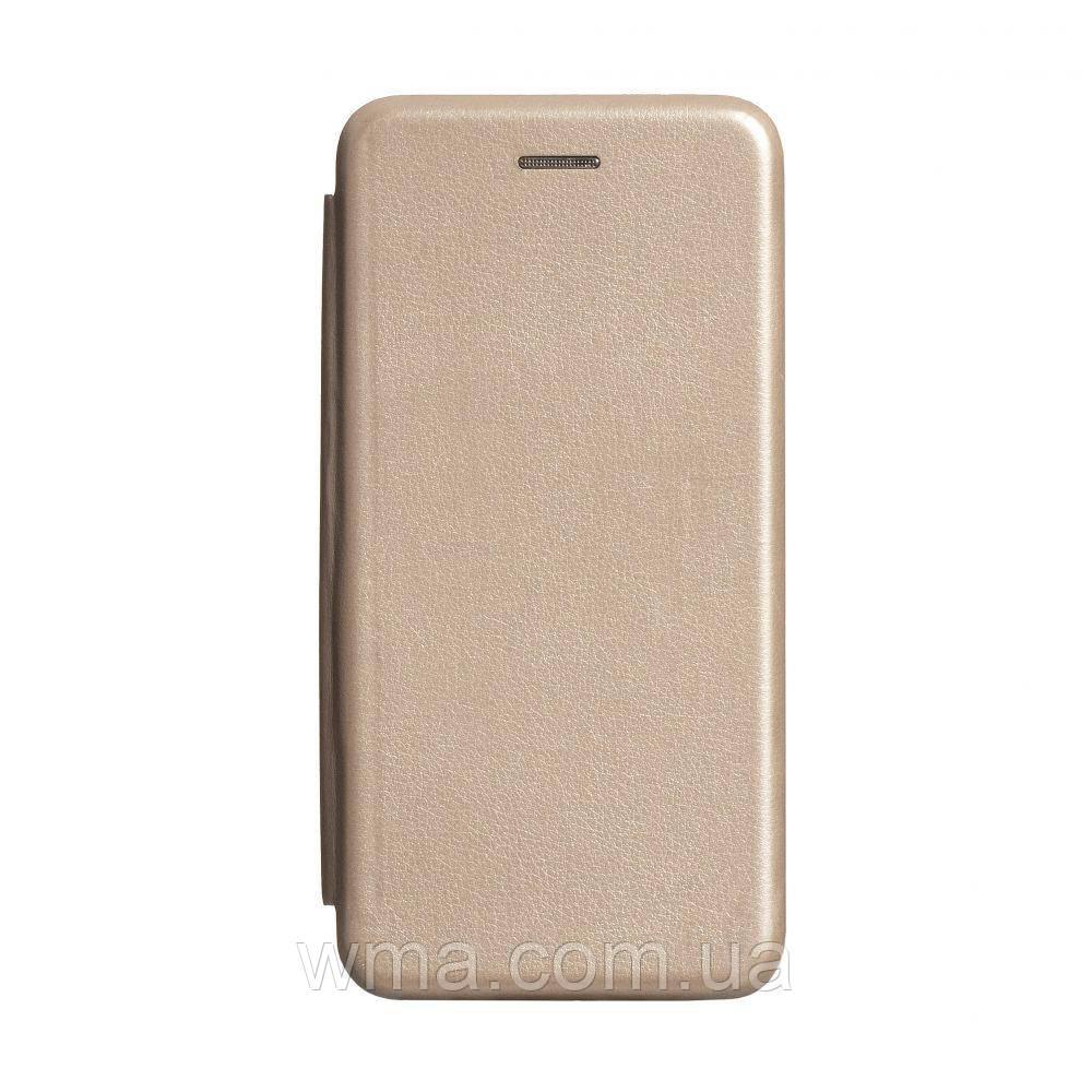 Чехол-книжка кожа Samsung S20 2020 Цвет Золотой