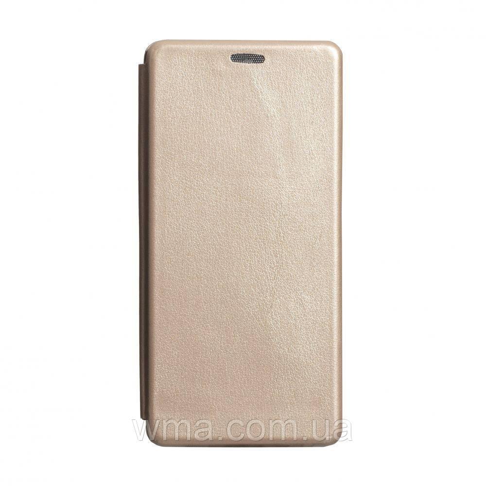 Чехол-книжка кожа Samsung S20 Ultra 2020 Цвет Золотой