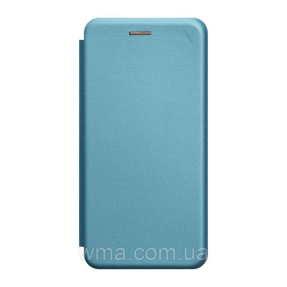 Чехол-книжка кожа Xiaomi Mi 10 Цвет Голубой