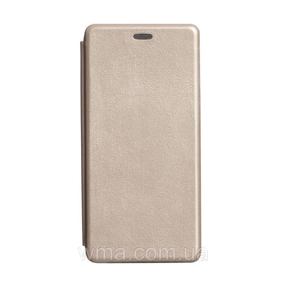 Чехол-книжка кожа Xiaomi Mi 10 Цвет Золотой