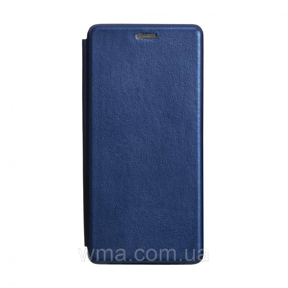 Чехол-книжка кожа Xiaomi Mi 10 Цвет Синий