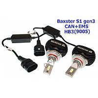Лампи світлодіодні Baxster S1 gen3 HB3 (9005) 5000K CAN+EMS (2 шт)