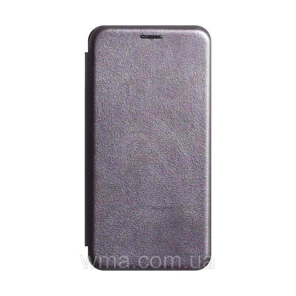 Чехол-книжка кожа Xiaomi Redmi 7 Цвет Серый
