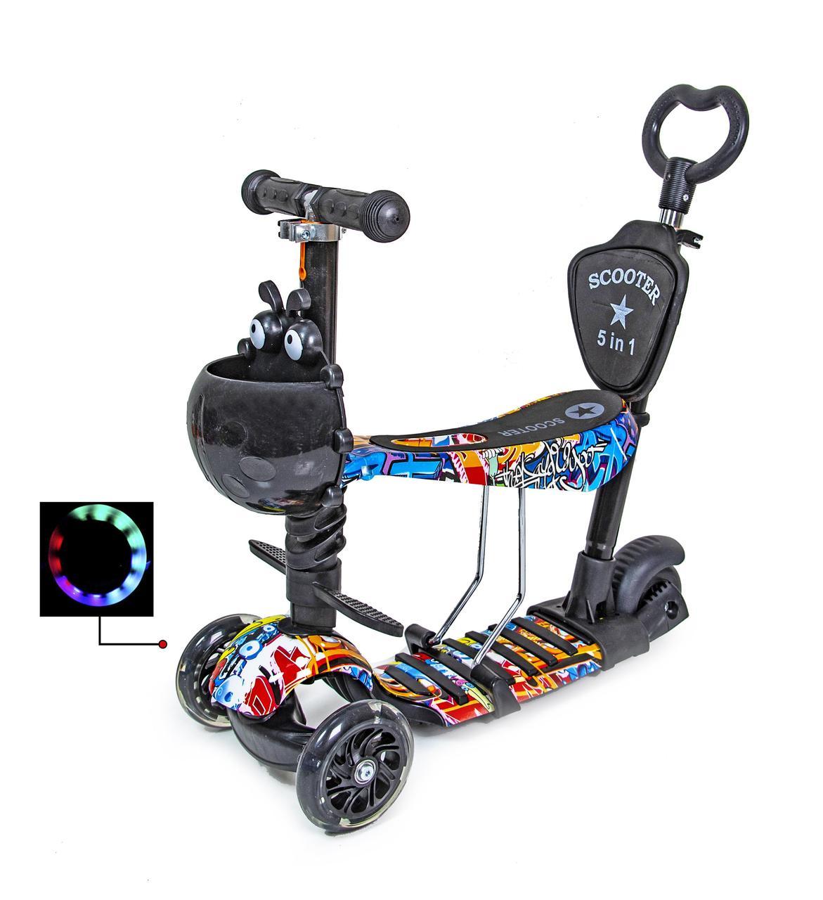 Самокат Scooter Graffiti 5in1 з малюнком оптом