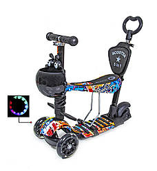 Самокат Scooter Graffiti 5in1 с рисунком оптом