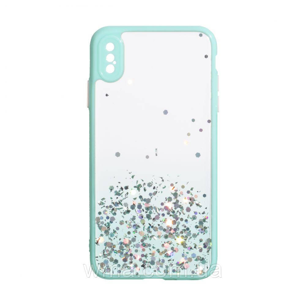 Чехол Frame with Sequins for Iphone Xs Max Цвет Бирюзовый