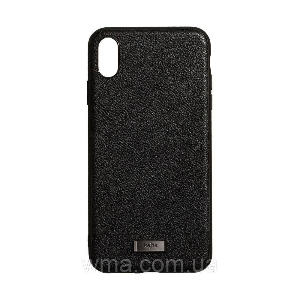 Чехол Kajsa Luxe for Apple Iphone Xs Max Цвет Чёрный