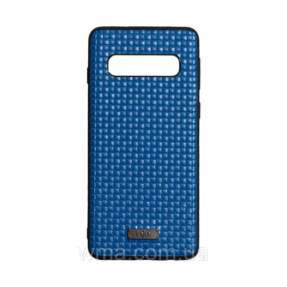 Чехол Kajsa Grass for Samsung S10 Цвет Синий