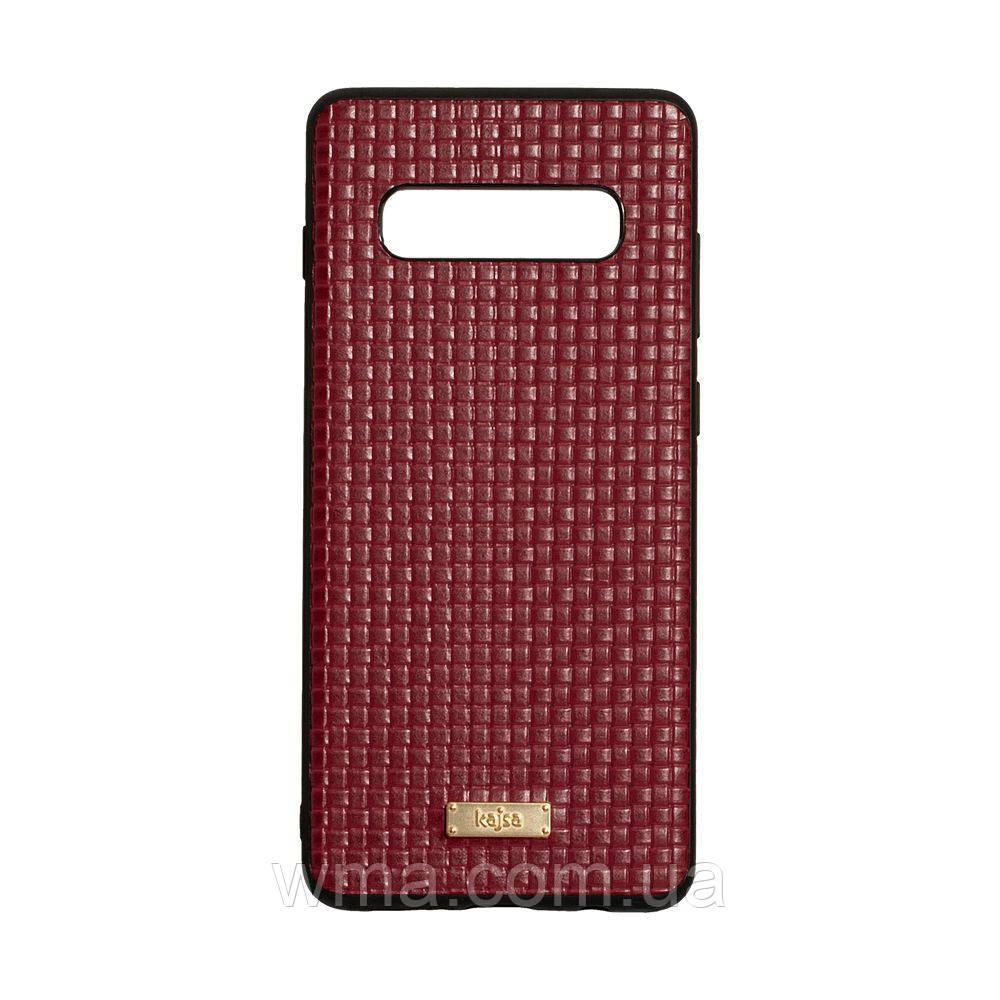 Чехол Kajsa Grass for Samsung S10 Plus Цвет Красный