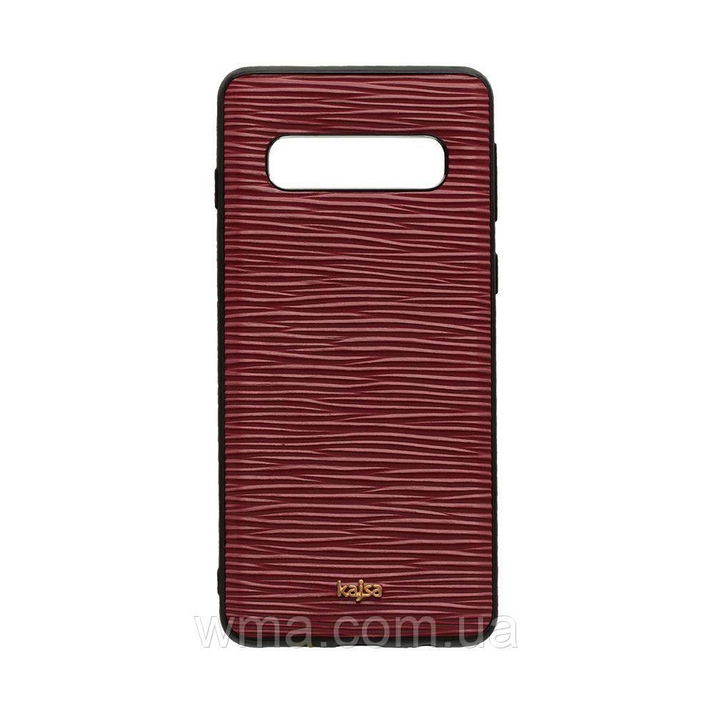 Чехол Kajsa Wave for Samsung S10 Цвет Красный