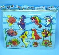"Игра разв. YW-3218 (288шт/3)""Морские животные"" типа Монтессори,в пакете 28*20,5*0,5см"