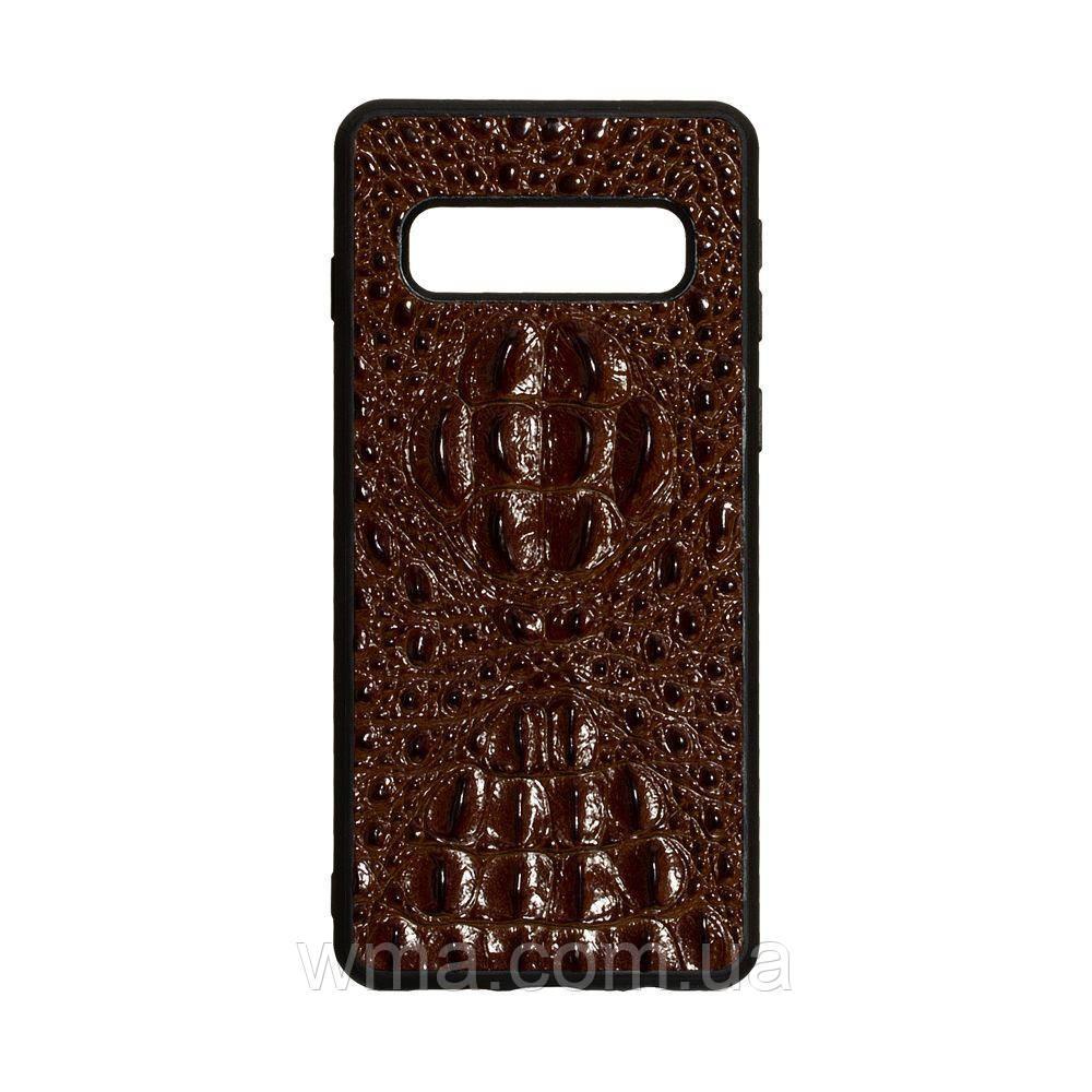 Чехол Genuine Leather Horsman for Samsung S10 Цвет Коричневый