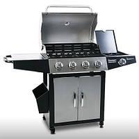 Гриль барбекю газовый Broil-master BBQ G01 15,2kw 4+1 Black Silver , фото 1