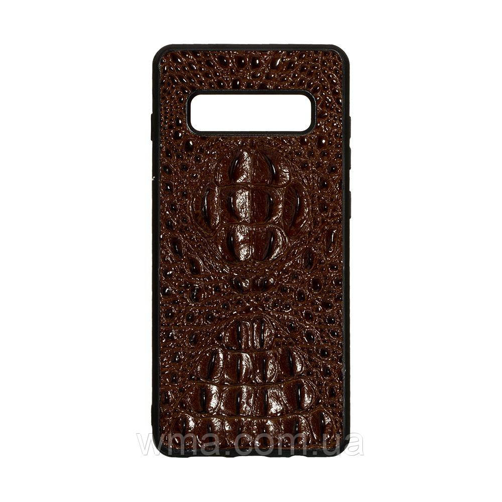 Чехол Genuine Leather Horsman for Samsung S10 Plus Цвет Коричневый