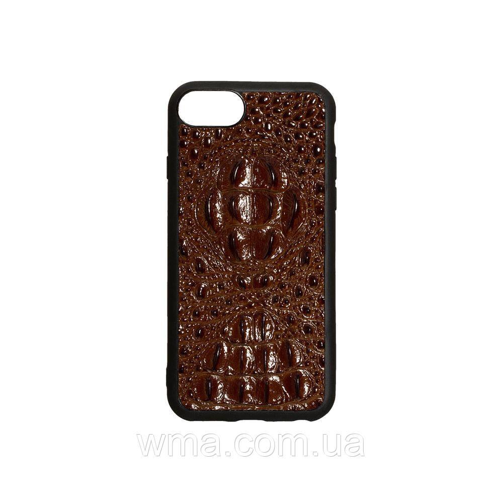 Чехол Genuine Leather Horsman for Apple Iphone 8G Цвет Коричневый