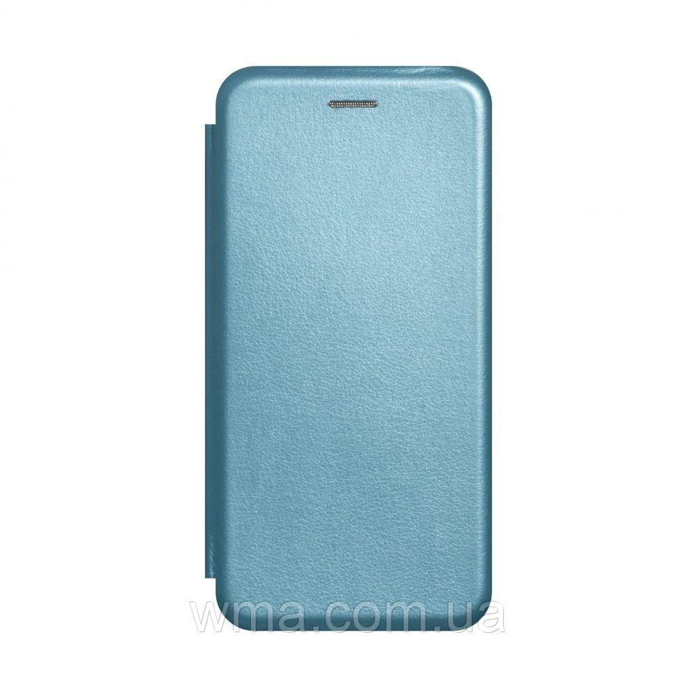 Чехол-книжка кожа Realme C2 Цвет Голубой