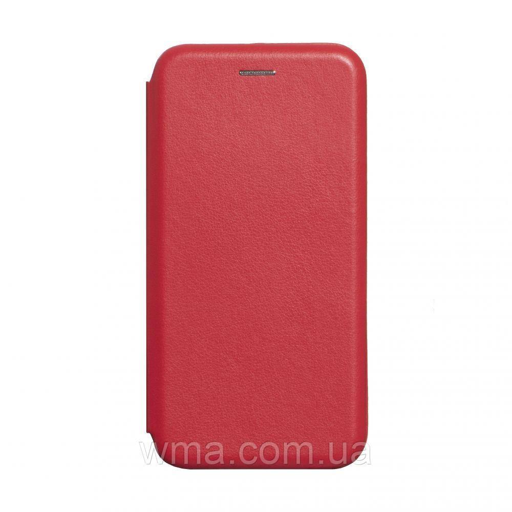 Чехол-книжка кожа Realme C2 Цвет Красный