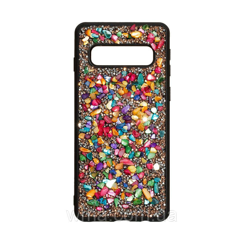 Чохол Bling World Stone for Samsung S10 Колір Градієнт Рожевий
