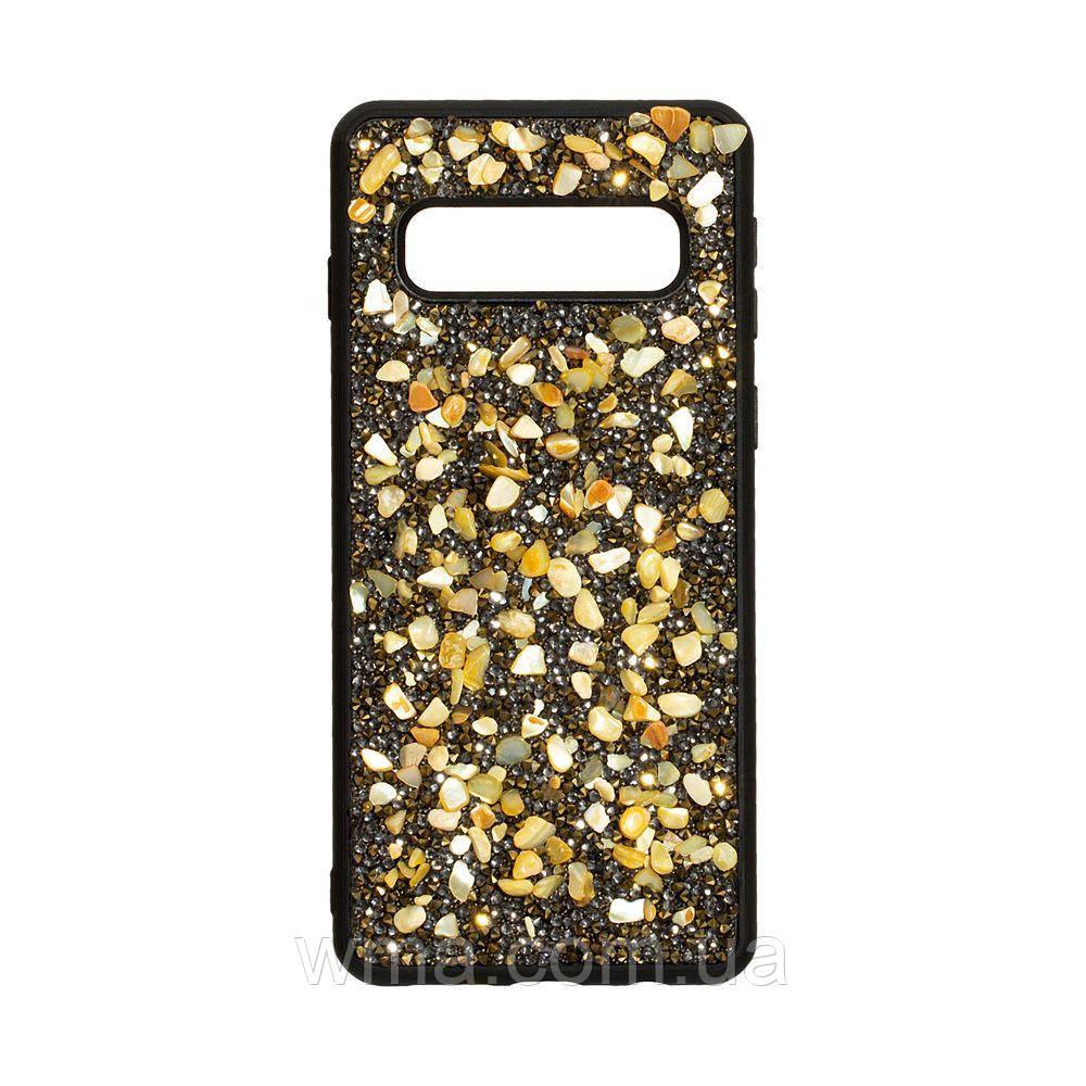 Чохол Bling World Stone for Samsung S10 Колір Золотий