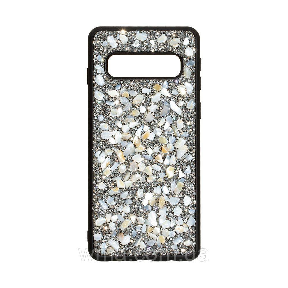 Чохол Bling World Stone for Samsung S10 Колір Сталевий
