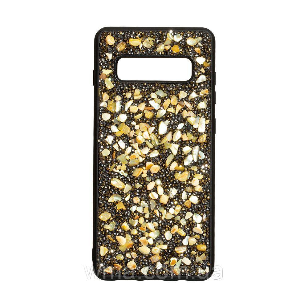 Чохол Bling World Stone for Samsung S10 Plus Колір Золотий