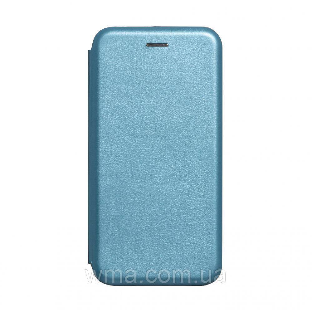Чехол-книжка кожа Realme C2 Цвет Синий