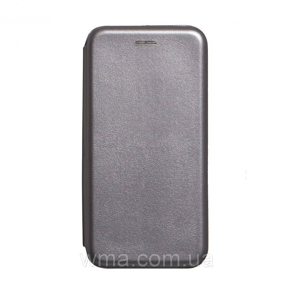 Чехол-книжка кожа Realme 5 Pro Цвет Серый