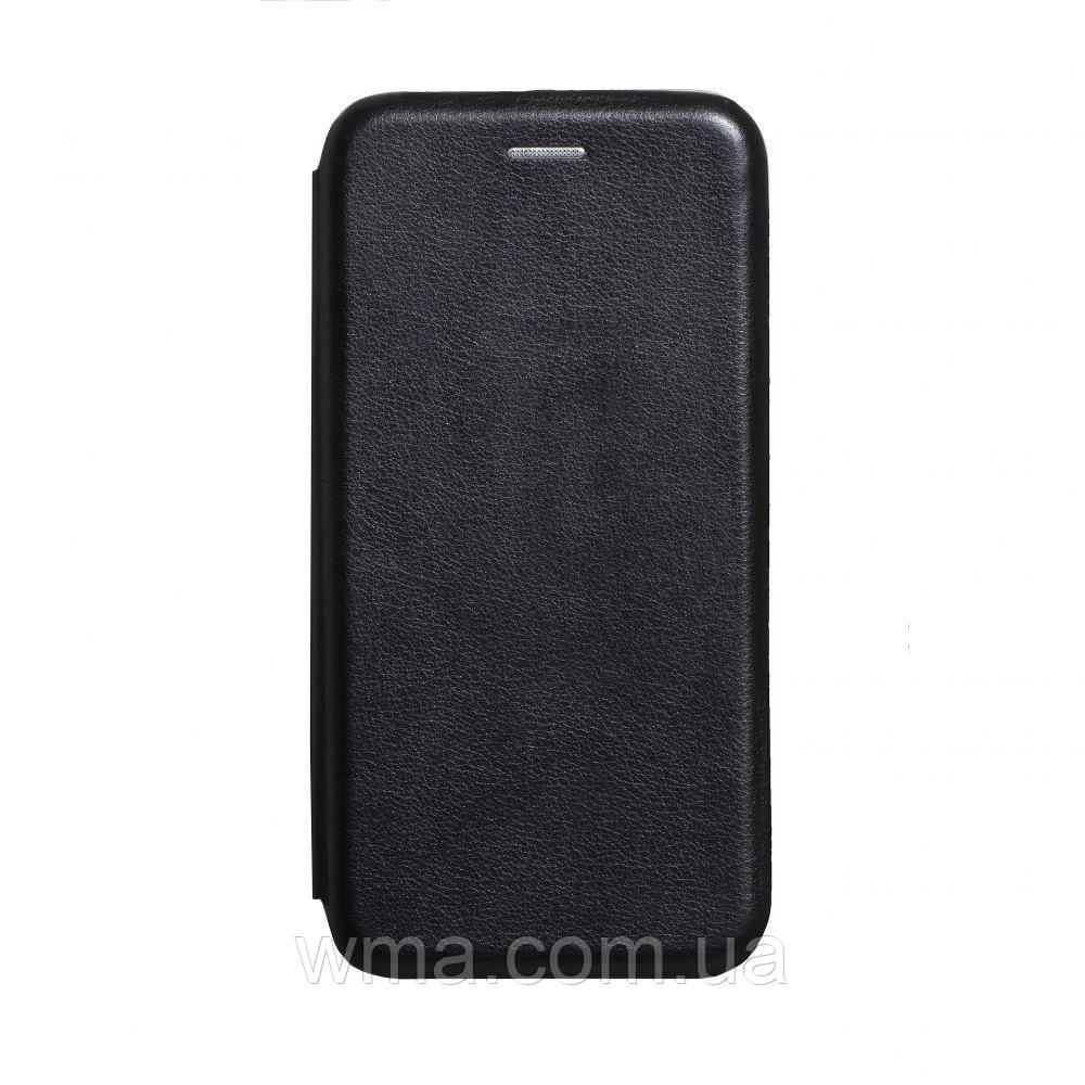 Чехол-книжка кожа Realme 5 Pro Цвет Чёрный