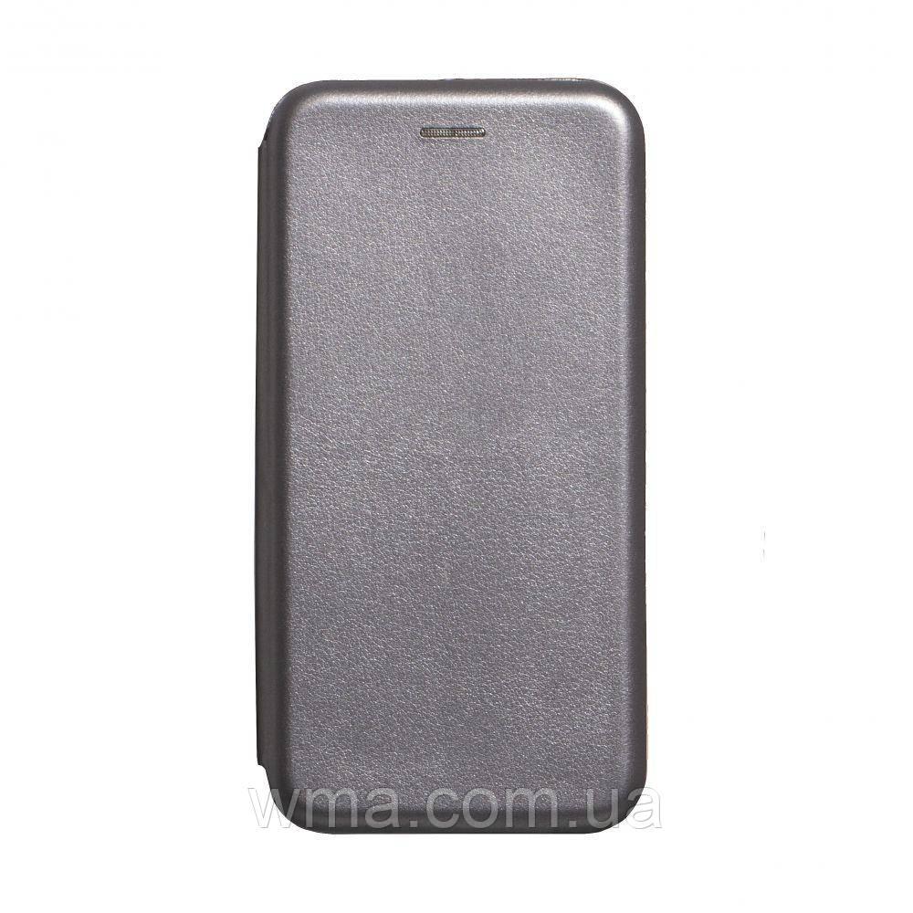 Чехол-книжка кожа Realme XT Цвет Серый