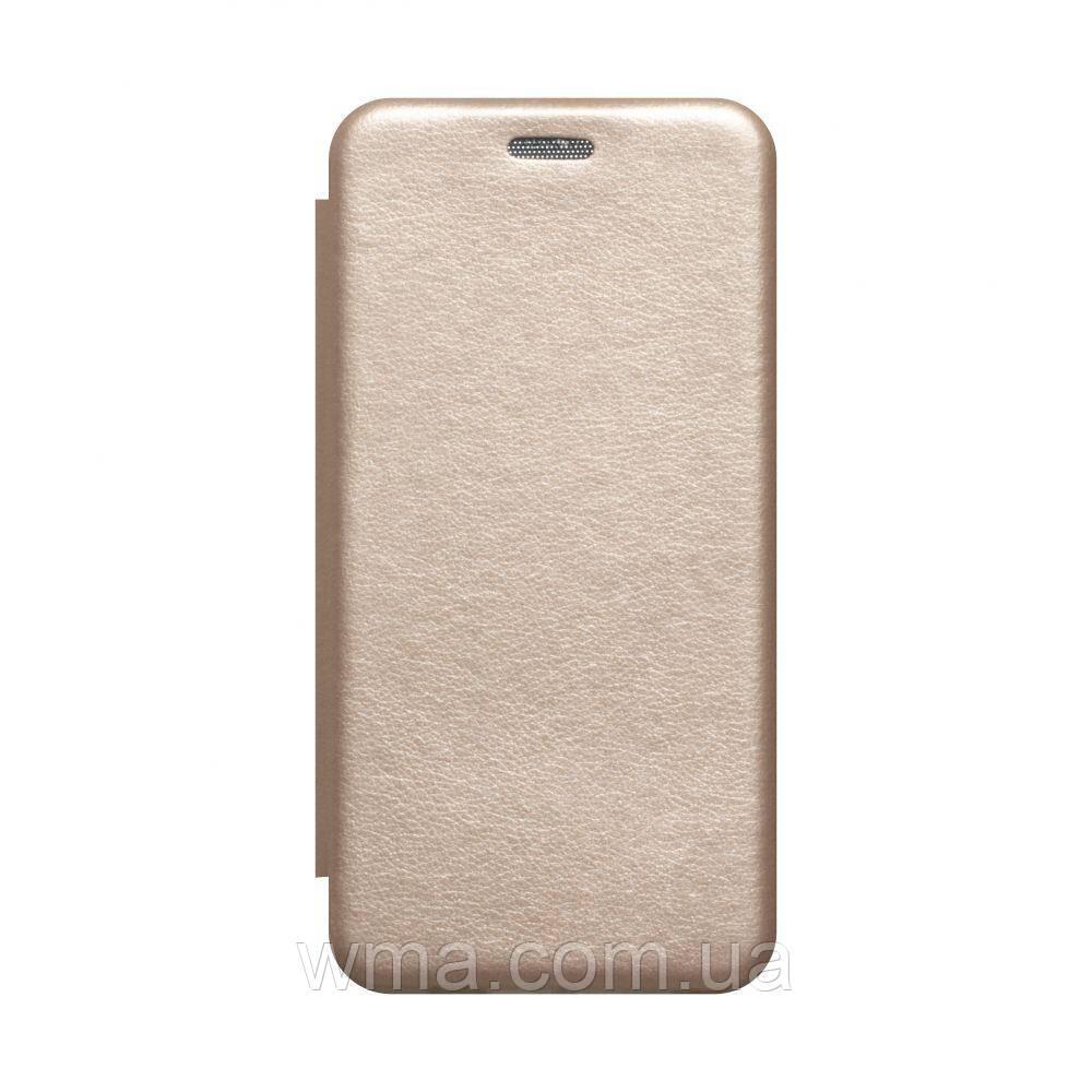 Чехол-книжка кожа Samsung A41 2020 Цвет Золотой