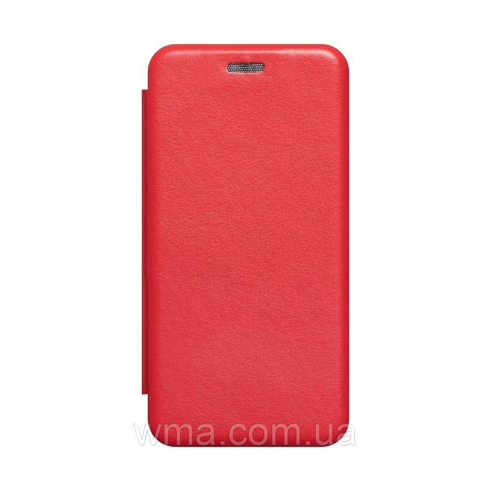 Чехол-книжка кожа Samsung A41 2020 Цвет Красный