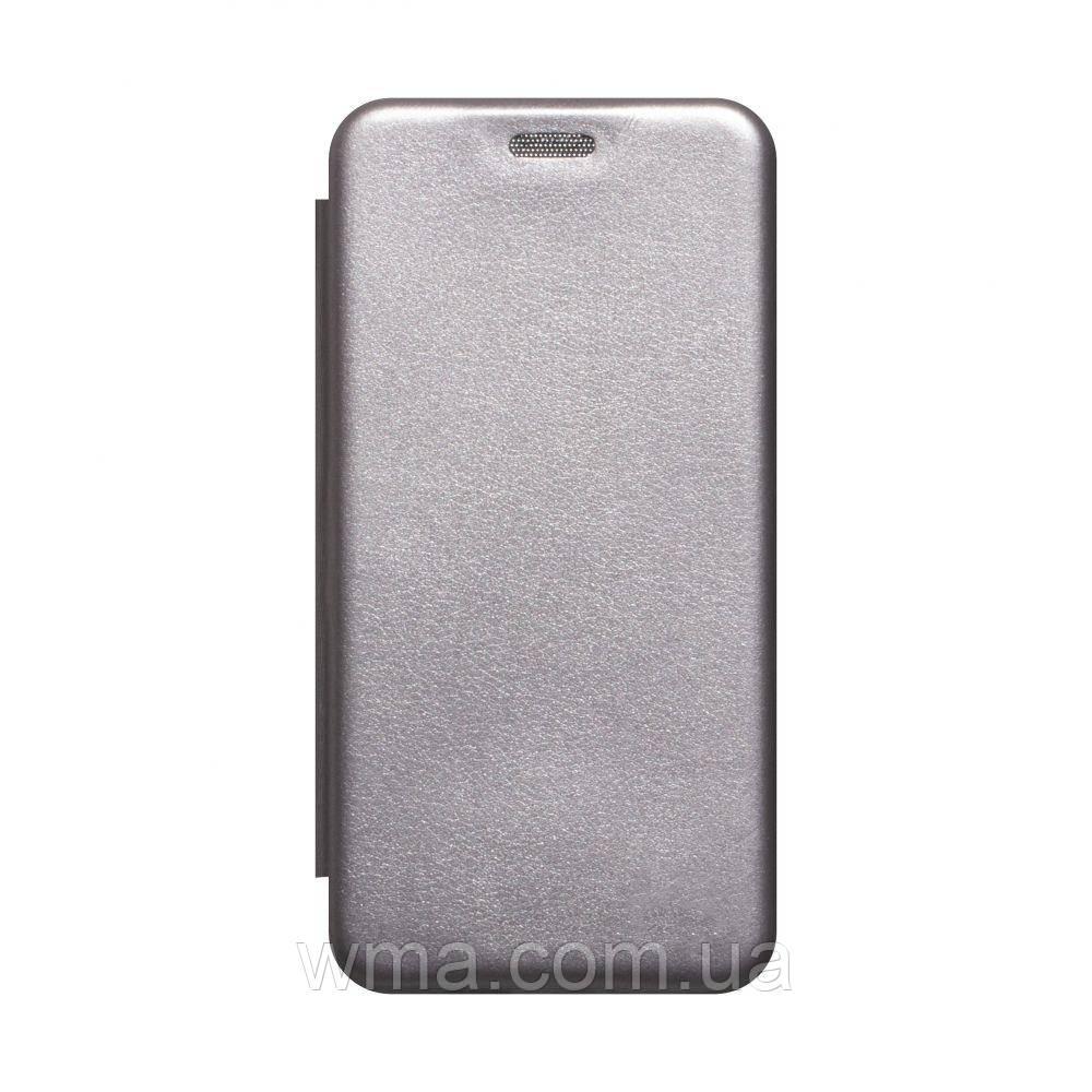 Чехол-книжка кожа Samsung A41 2020 Цвет Серый
